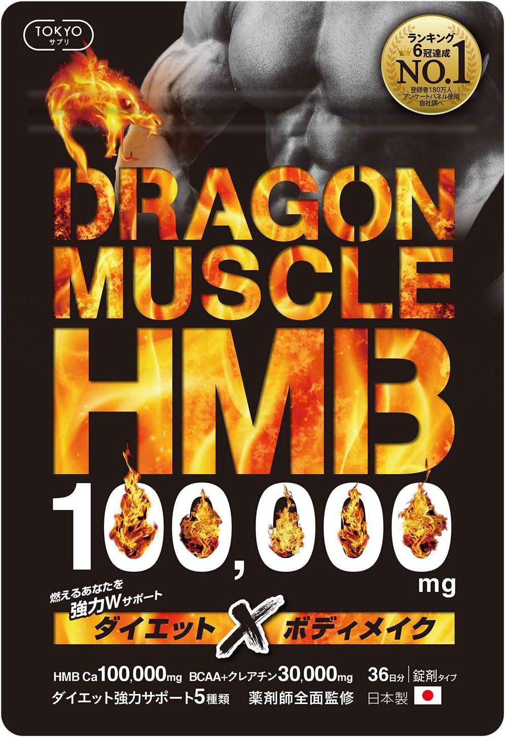 おすすめ4位:ドラゴンマッスルHMB ダイエット サプリ