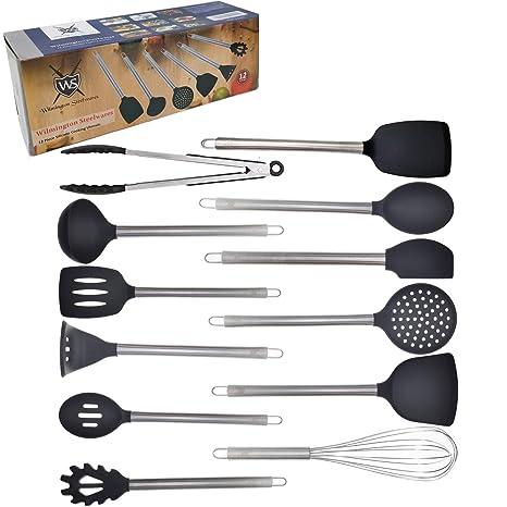 Amazon.com: Juego de utensilios de cocina de 12 piezas de ...