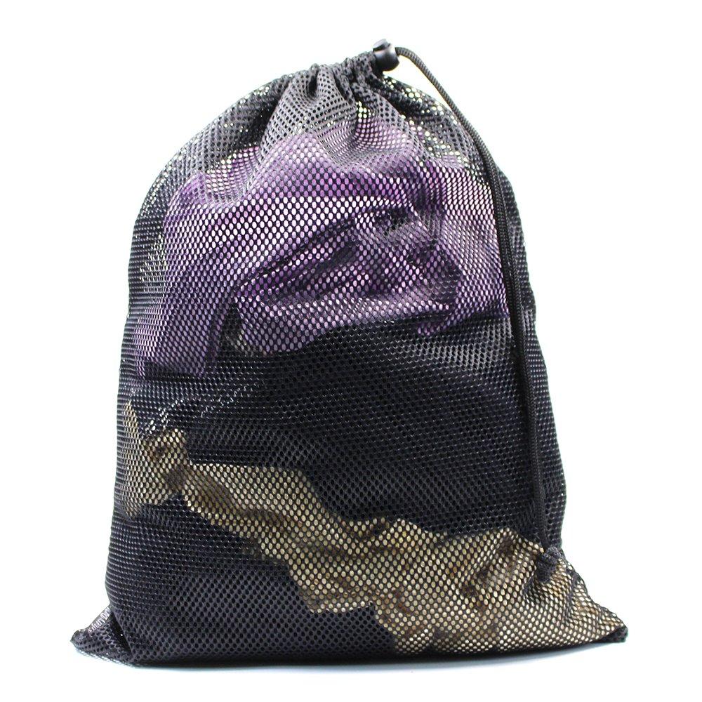 Erlvery DaMain 2pcs Mesh Equipment Bag Drawstring Storage Ditty Bags Stuff Sack for Travel & Outdoor Activity by Erlvery DaMain (Image #5)