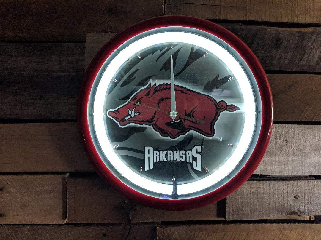 Authentic Street Signs NCAA College Team Plasma Clock (Arkansas Razorbacks) by Authentic Street Signs