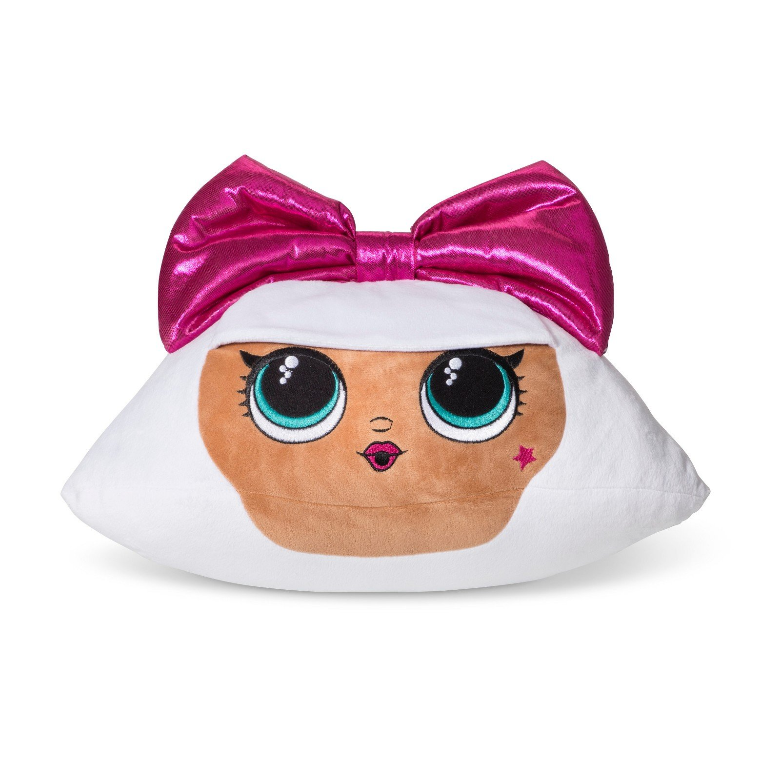 MGA Lol Surprise Pink Bow Diva Shaped Cuddle Pillow