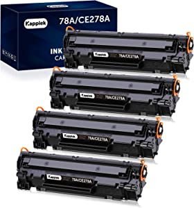 Kappiek Compatible Toner Cartridge Replacement for HP 78A CE278A Toner to Use with HP Laserjet Pro P1606dn M1536dnf P1566 P1560 P1606 M1536 Printer (4 Black)