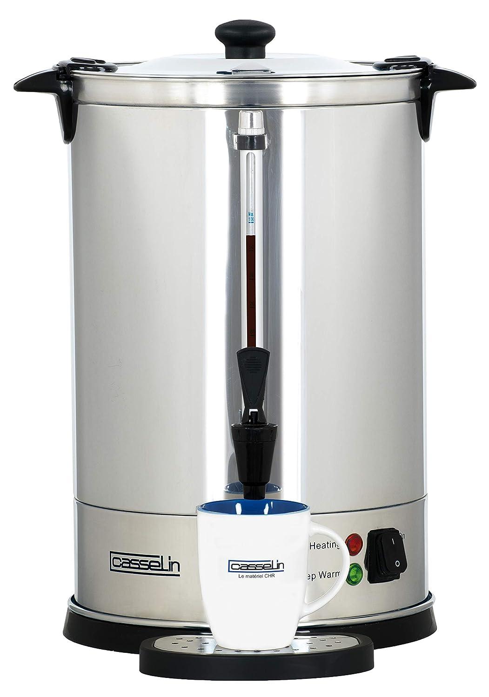 Noir Acier inoxydable Casselin CPC100 Percolateur /à caf/é 100 tasses
