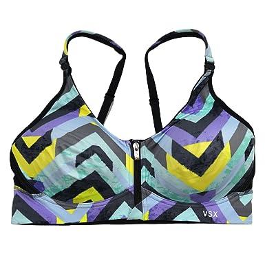 Victoria s Secret VSX Sports Bra Freestyle Front Zip Wireless (34DDD ...