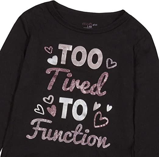 TENDYCOCO ni/ño ni/ños ni/ñas Traje Ropa Negro Manga Larga Camiseta Tops Pantalones Vaqueros para ni/ños de 6-7 a/ños