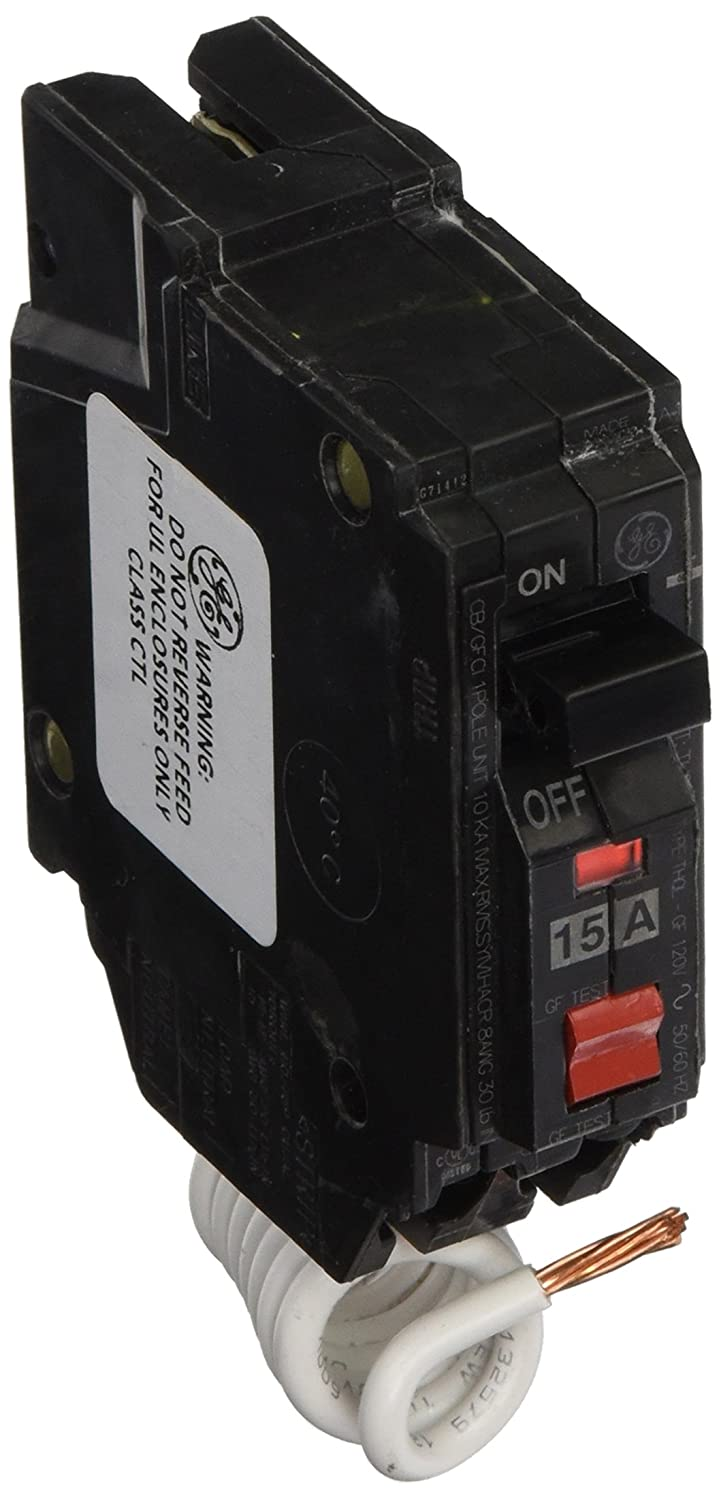 GE Energy Industrial Solutions THQL1115GFP Single Pole Circuit Breaker, 15-Amp 865576