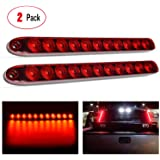 "Nilight - TL-10 2PCS 16"" 11 LED Red Trailer Light Bar for Park Stop Turn signals Tail Brake Light DOT Compliant IP65…"