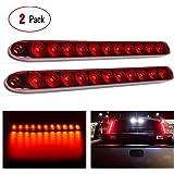 "Nilight 2PCS 16"" 11 LED Red Trailer Light Bar for Park Stop Turn signals Tail Brake Light DOT Compliant IP65 Waterproof…"