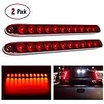 """Nilight 60001F-B - Barra de Luces LED de Trabajo (2 Unidades, 18 W, 10,16 cm), 2PCS 16"""" Trailer Marker ID Bar"""