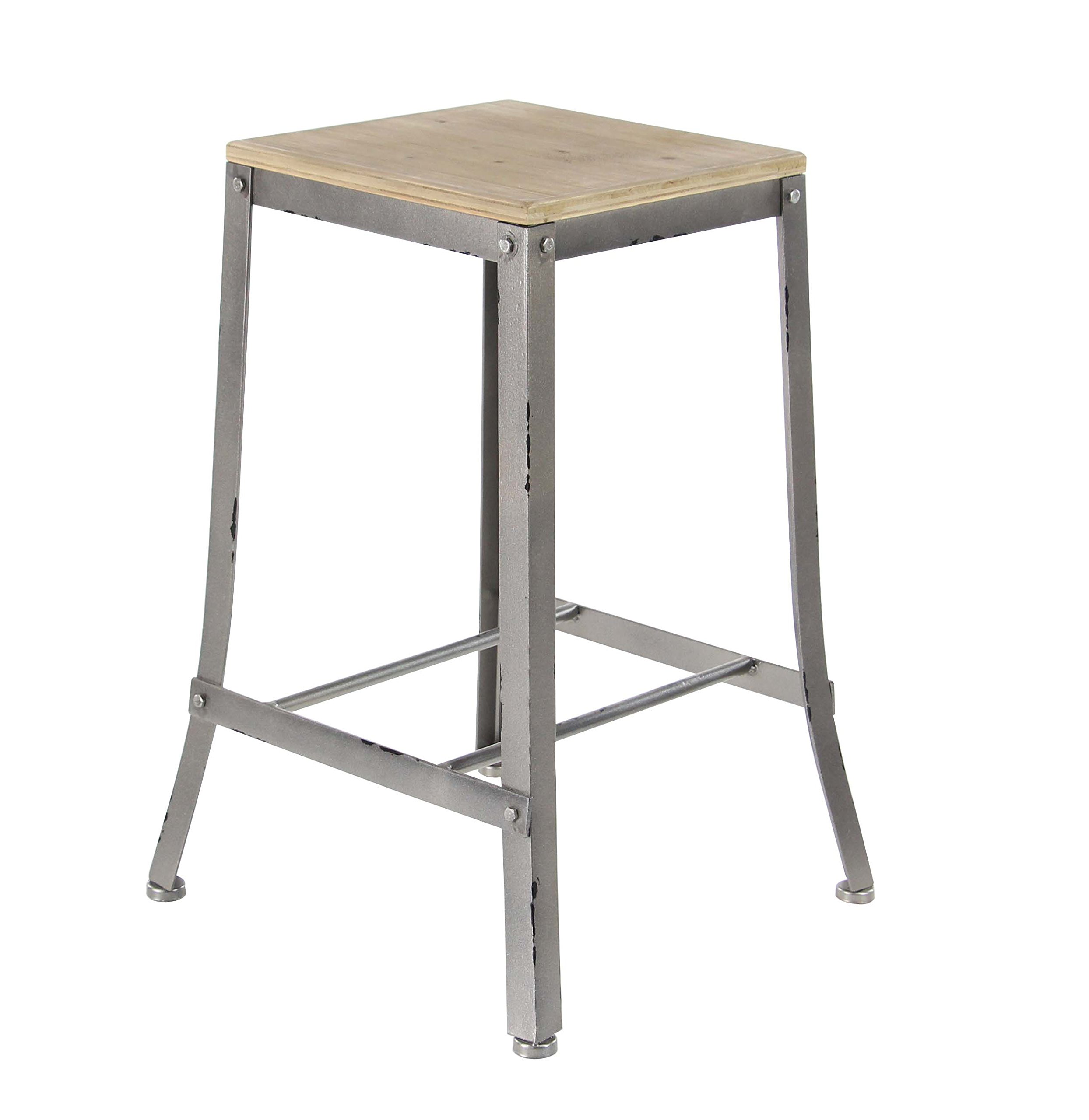 Deco 79 60193 Counter Stool, Brown/Gray