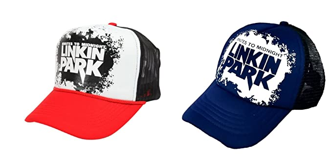 05ca5fb1216 Image Unavailable. Image not available for. Colour  Michelangelo Blue Linkin  Park MESH CAP and Red Linkin Park Half Net UNISEX CAP COMBO