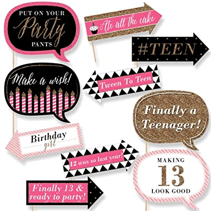 amazon com funny chic 13th birthday pink black and gold