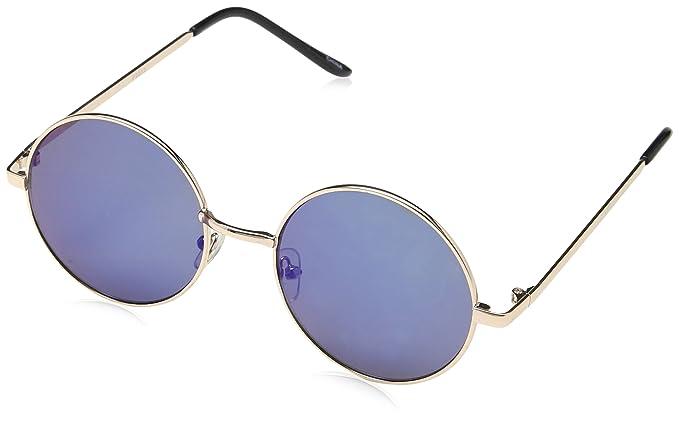 8c31067bb0 Round Eye Sunglasses 60 s  Lennon  Style.. Gold with Blue Tint Lense ...