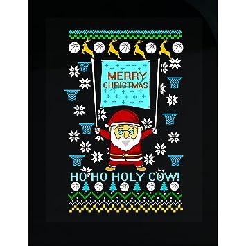Amazoncom Basketballs Reindeer Ho Ho Holy Cow Ugly Christmas