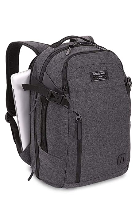Amazon.com  SWISSGEAR Getaway Weekend Contoured 15-inch Laptop Backpack - Heather  Gray  Computers   Accessories 1af1e4b23dca3