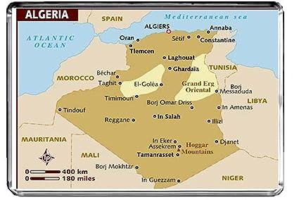 Carte Algerie Reggane.Lfc M004 Carte D Algerie Frigo Aimant Algerie Travel