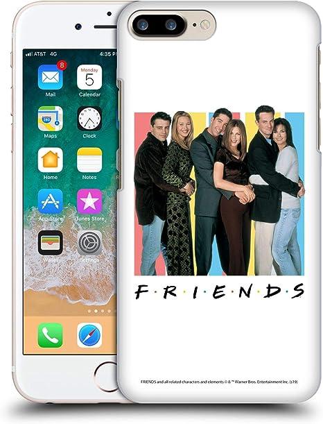 Head Case Designs Officiel Friends TV Show Acteurs Logos Coque Dure pour l'arrière Compatible avec Apple iPhone 7 Plus/iPhone 8 Plus