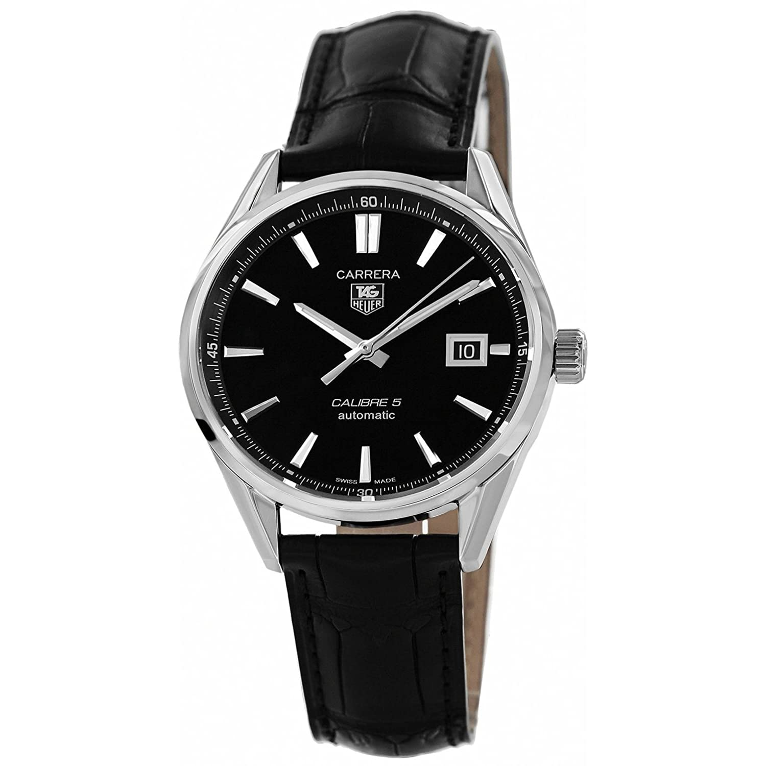 tag heuer carrera gmt automatic mens watch wv2116 fc6203 amazon tag heuer carrera calibre 5 leather mens watch war211a fc6180