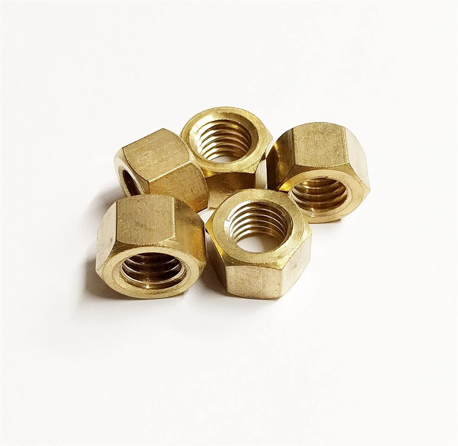 5x Brass Metric Exhaust Manifold Nut 10mm x 1.25mm High Temperature Nuts AutoPower