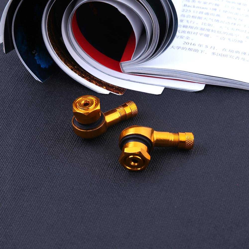 11.3/mm profilo CNC in alluminio valvola del pneumatico gambi per moto Ahomi 2PCS 90?