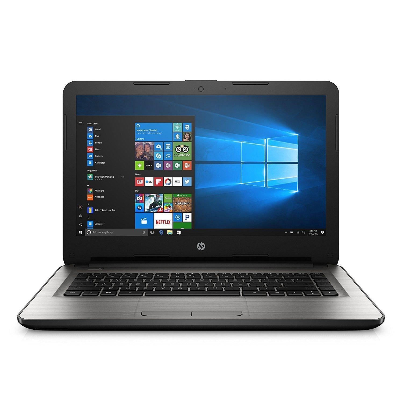 "2017 Flagship HP 14"" HD WLED-backlit Laptop - AMD Quad-Core E2-7110 1.8GHz, AMD Radeon R2 Graphics, 4GB RAM, 32eMMC, 802.11bgn, HD Webcam, WLAN, HDMI, Bluetooth, Win 10 (Certified Refurbished)"