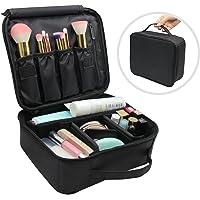 Vococal Sac de maquillage, Trousse de Maquillage,Pochette de Maquillage Portative de Compartiments organisateur de sac de maquillage brosses de maquillage mallette portative de rangement Noir