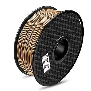 TIANSE PLA 3D Printer Filament,skin color wood pla,1.75mm pla filament, 1KG Spool Filament for 3D Printing, Dimensional Accuracy +/- 0.03 mm