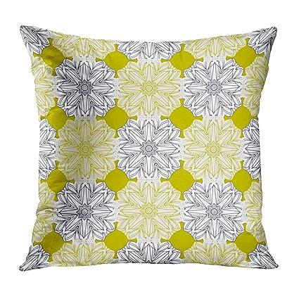 Amazon Throw Pillow Cover Yellow Mustard Round Pattern New Round Yellow Decorative Pillow