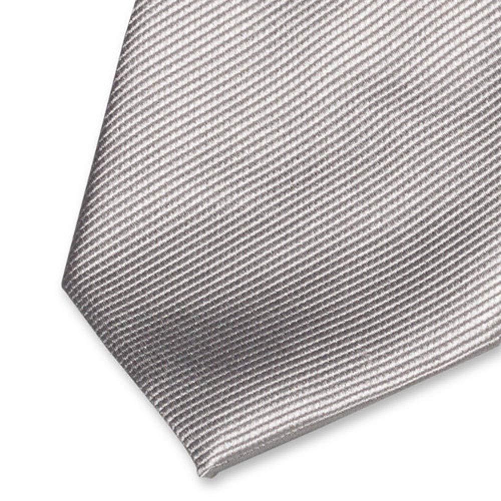 Accessoirespezialist.de Corbata plateada/gris de alta calidad ...