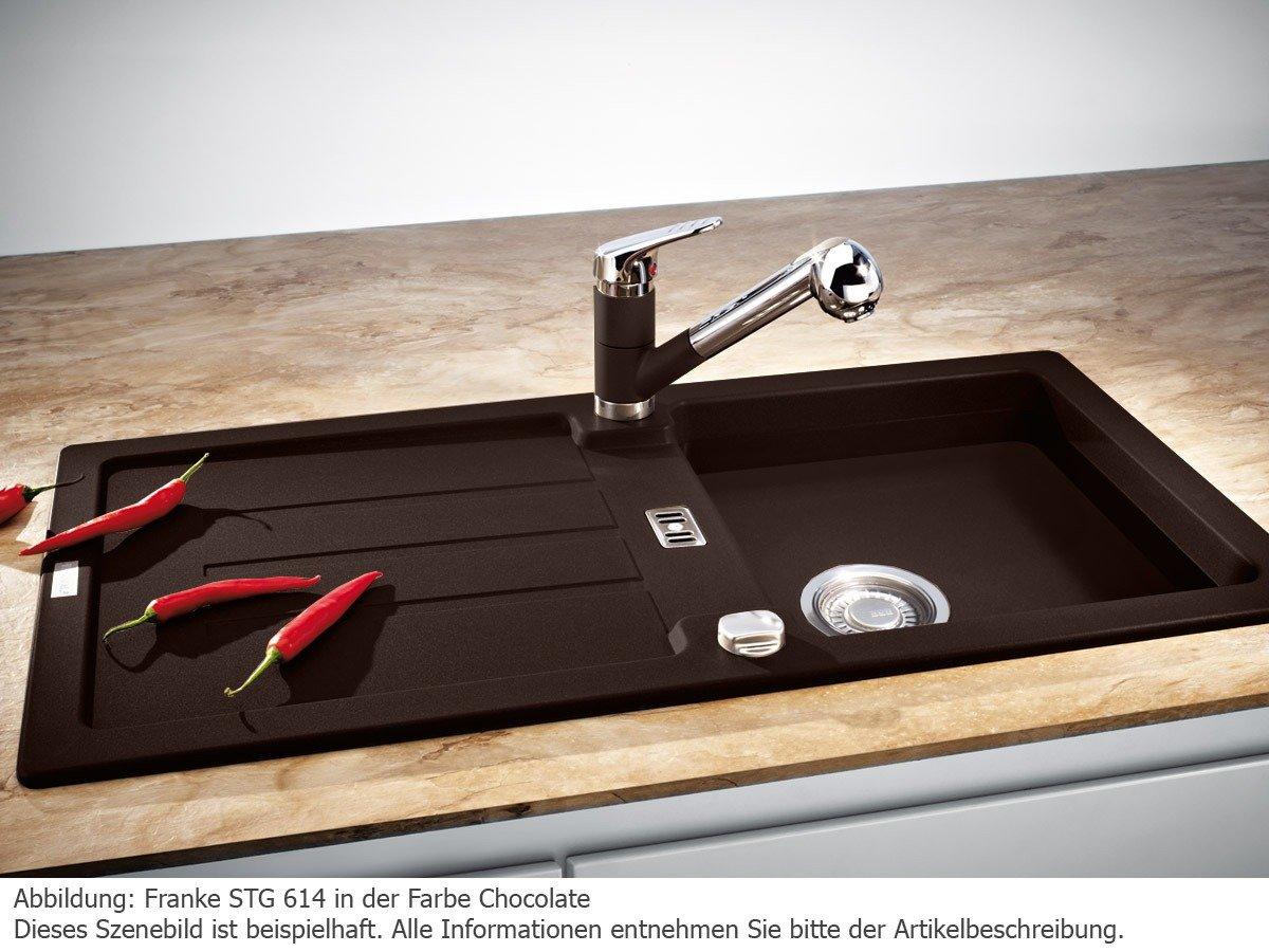 Franke Inset Sink Strata STG 614 Fragranite DuraKleenPlus, Chocolate,  Reversible Basin, 1140259853     Amazon.com