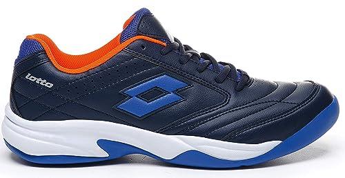 Lotto T8912 - Zapatillas para Deportes de Interior de Sintético para Hombre Azul BLU AVI/BLU Pcf, Color Azul, Talla 47 EU: Amazon.es: Zapatos y complementos
