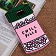 CHOCOCASE (TM) Chill Pills Case For Samsung Galaxy Note 5 Soft Silicone Gel Material Green Bottle Design Brand New Hot Cute Fun Style For Girls Women