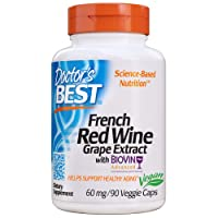 Doctor's Best French Red Wine Grape Extract, Non-GMO, Vegan, Gluten Free, Soy Free...