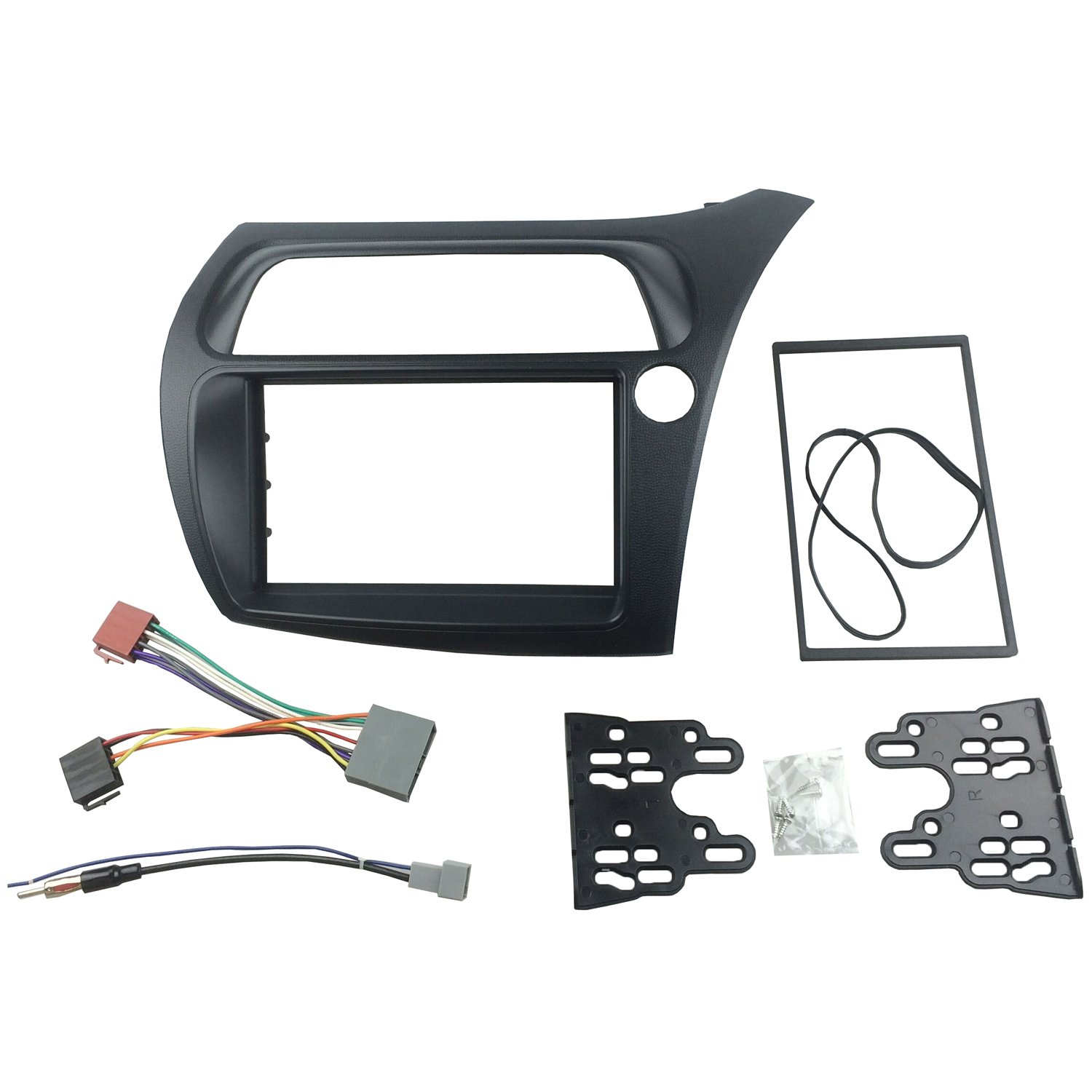 MAXIOU DKM013HO Double Din Stereo Facia Adaptor with Iso Wiring Cable Aerial 178*102Mm Opening