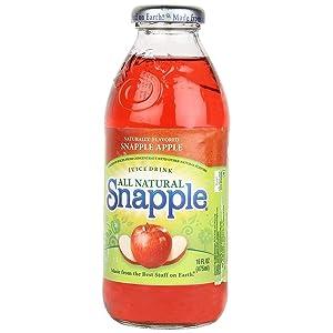Snapple Apple Fruit Juice, 16 Ounce (6 Plastic Bottles)