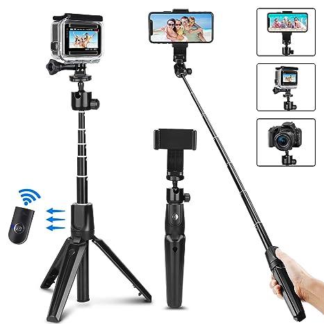 PEYOU Palo Selfie Trípode para Gopro,104cm Palo Selfie Movil con ...