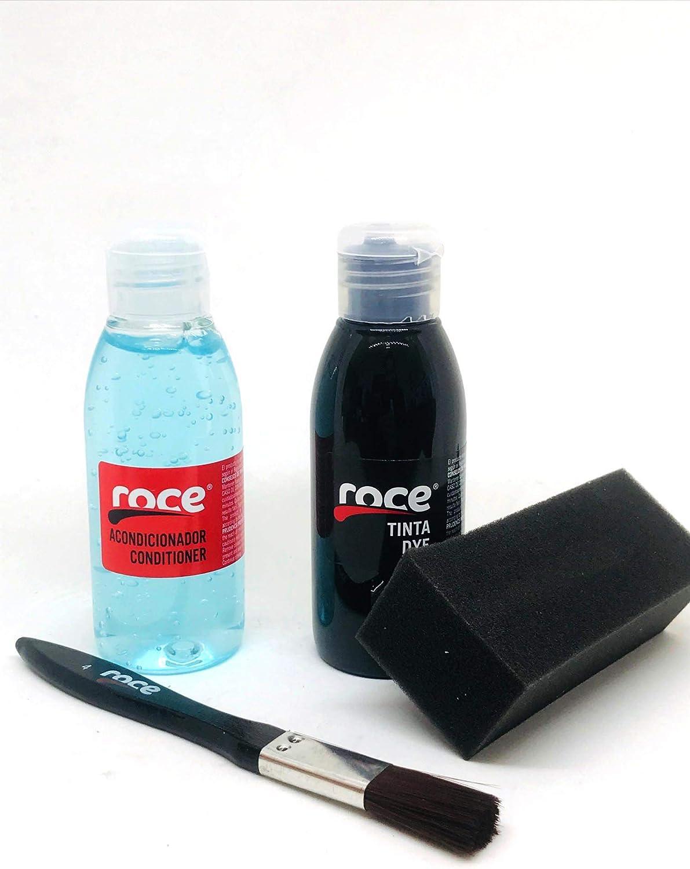 Roce Leather Kit | Tintas Roce | Color Negro Sport | Tinta Reparadora para Monos de Motorista y Prendas de Cuero Estropeadas | Arreglos Ropa Cuero | ...