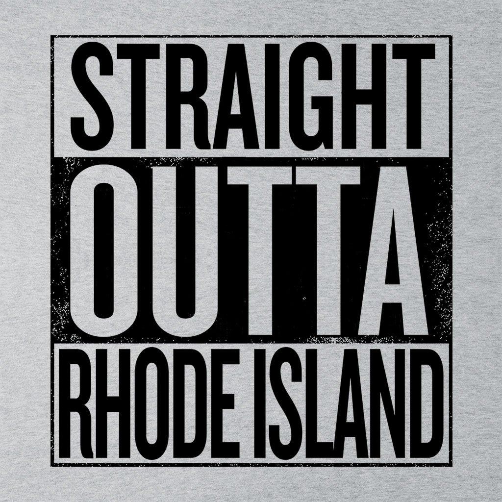 Coto7 Black Text Straight Outta Rhode Island US States Womens Vest