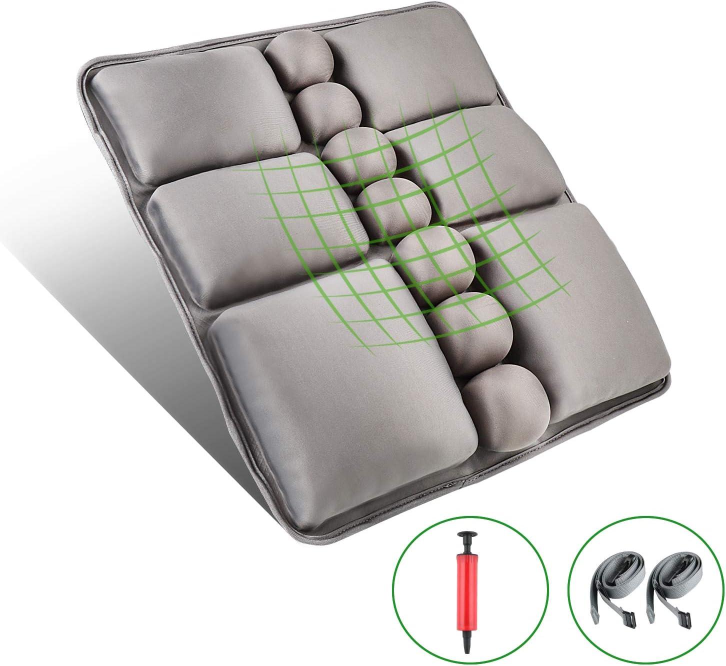 Reisen Zur/ückkissen schwarzem ergonomischem Sitzpolster B/ürostuhl weicher Rest ERGOGO Memory Foam Pillow das mit dem 3D-Ineinandergreifendeckel Speicherschaum Lendenunterst/ützungskissen