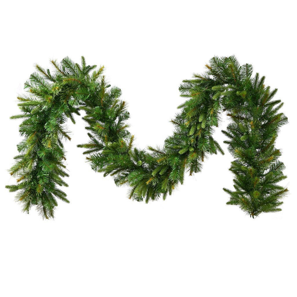 Vickerman Cashmere Pine Garland with 723 Tips-Unlit, 25-Feet, Green