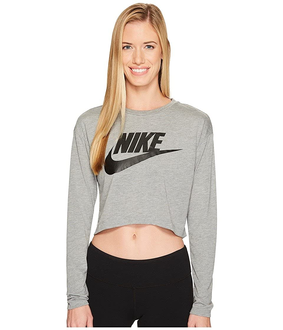 7153d366 Amazon.com: NIKE Essential Long Sleeve Crop Top Womens: Sports & Outdoors