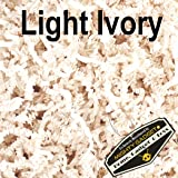 Mighty Gadget (R) 1 LB Light Ivory Crinkle Cut Paper Shred Filler for Gift Wrapping & Basket Filling