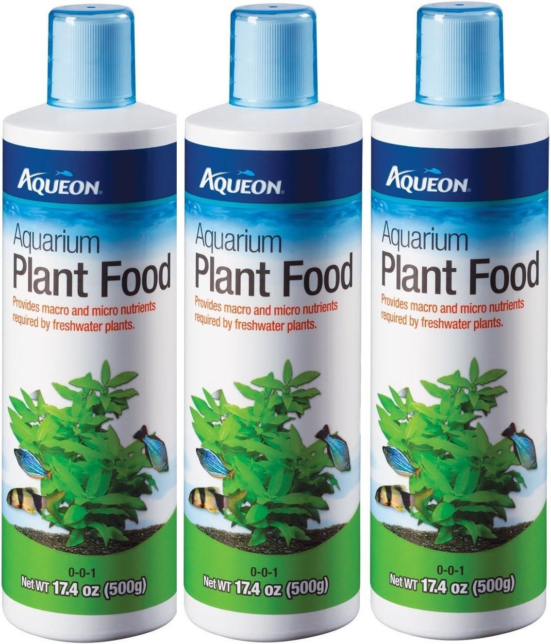 (3 Pack) Aqueon Water Care Aquarium Plant Food, 17.4-Ounce