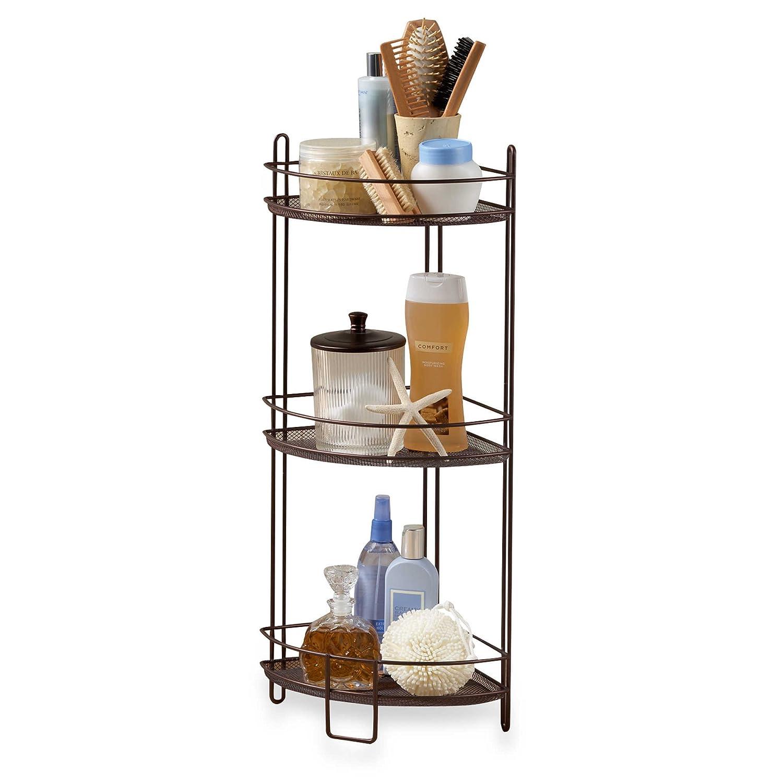 """27.5"""" 3-Tier Multi-Use Corner Storage Shelf in Oil Rubbed Bronze"""