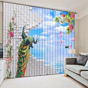 Wapel 2 Stück Gardinen Wohnzimmer Schlafzimmer Gardinen Vorhänge ...