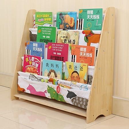 Estante Madera maciza Estantería infantil Jardín de infancia Librero del bebé Caja de almacenaje Dibujo de dibujo Estanterías Librería Estante de almacenamiento Caja de almacenamiento (Color : 5) : Amazon.es: Hogar