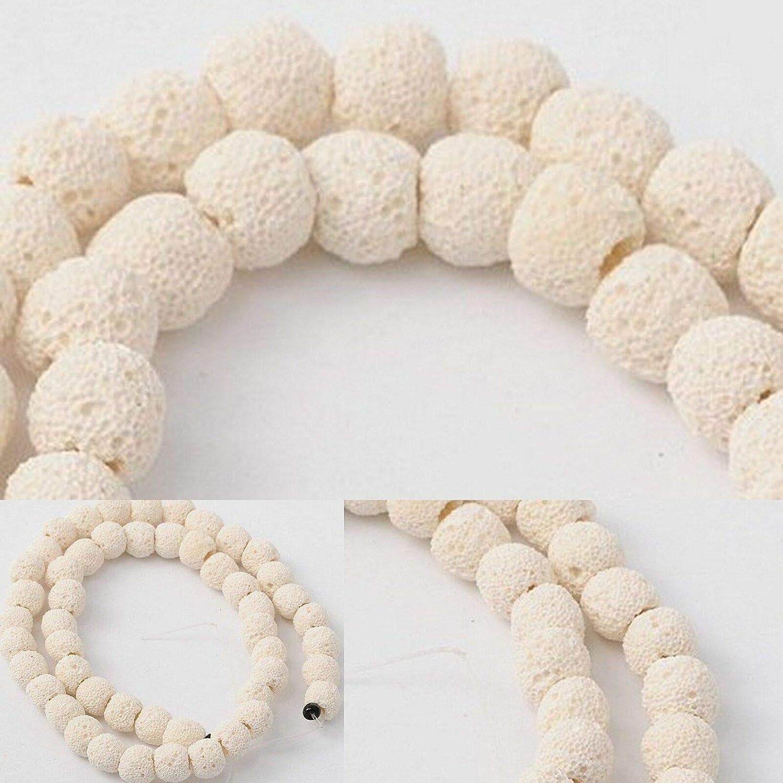 Beads Bone White Small Tube Beads 8mm