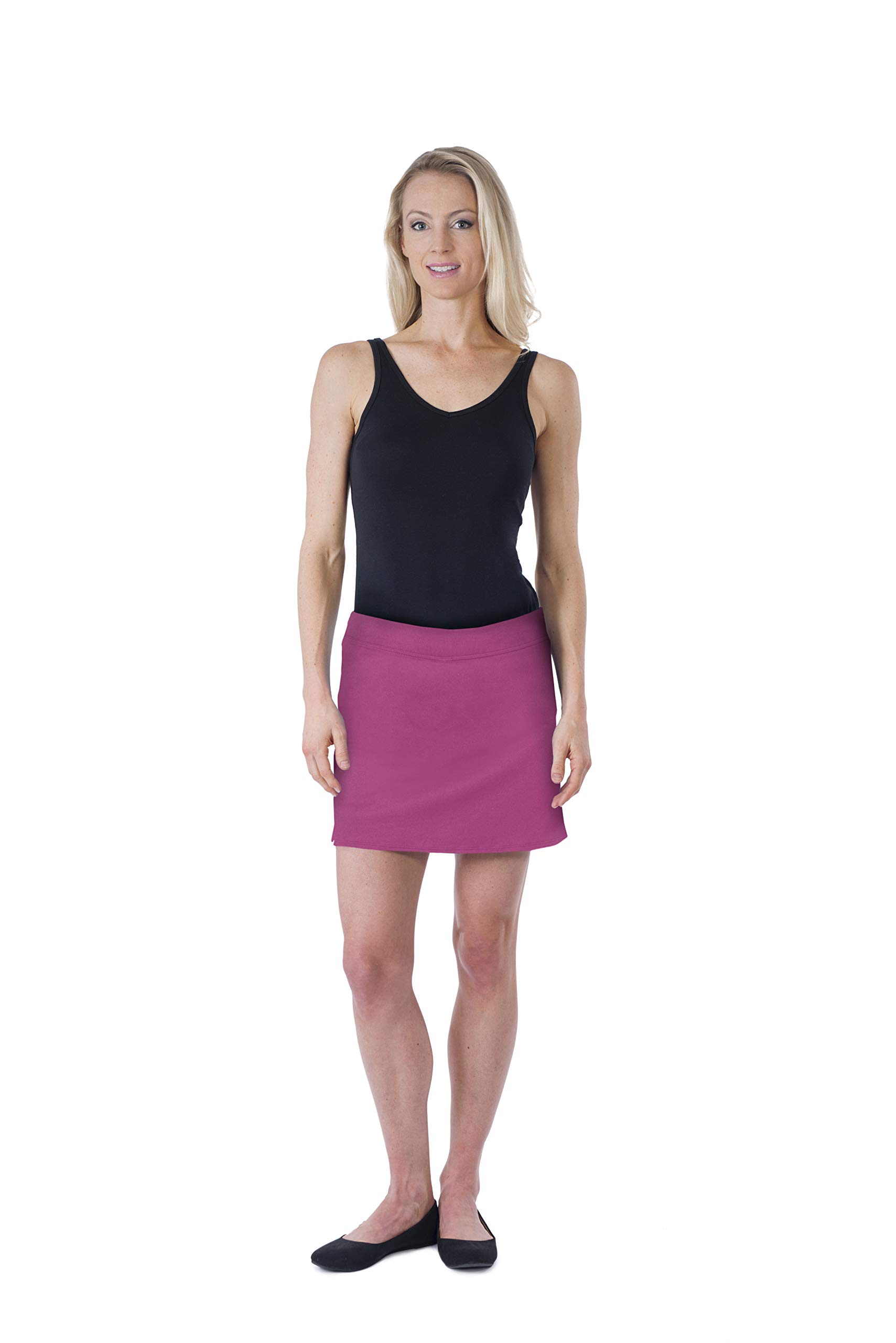 Colorado Clothing Women's Everyday Skort (Berry Flambe, X-Small)