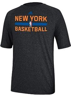 2088e328d713 New York Knicks Heather Black Climalite Practice Short Sleeve Shirt by  Adidas