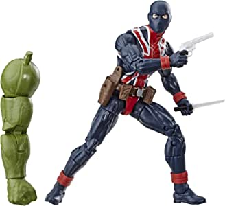 """Marvel Legends Series Union Jack 6"""" Collectible Action Figure Toy For Ages 6 & Up with Accessories & Build-A-Figurepiece"""